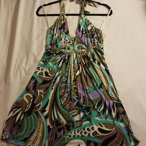 SKY Dragon Halter Dress